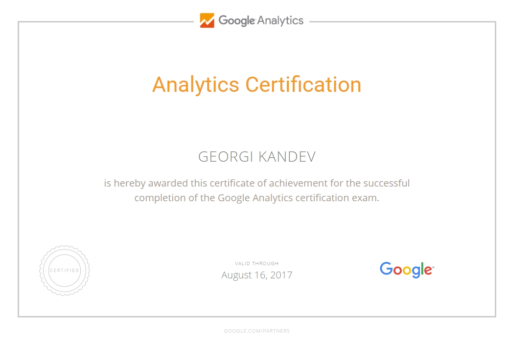 Georgi kandeto – Google Analytics