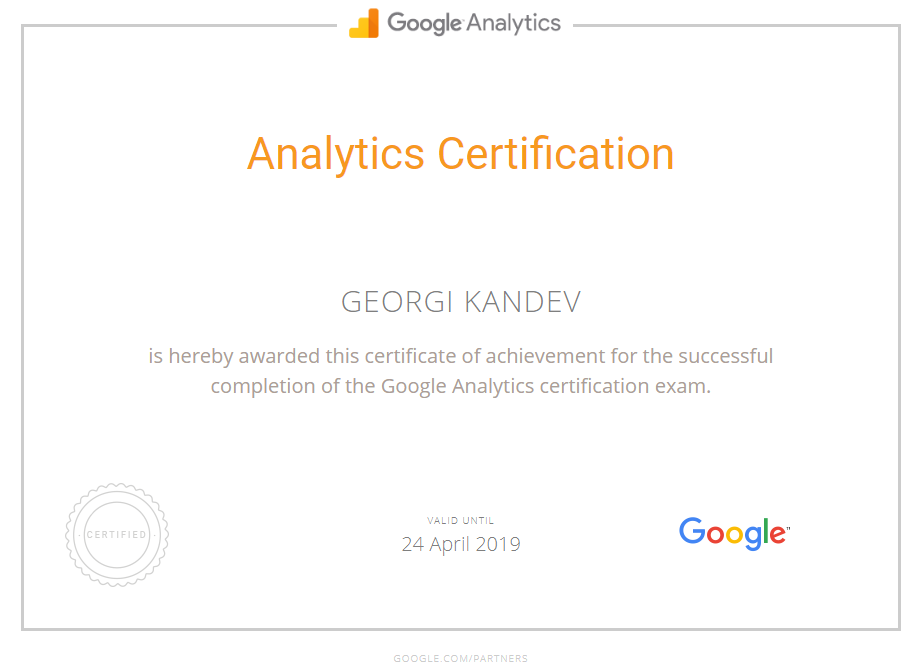 Георги kandeto — Google Analytics