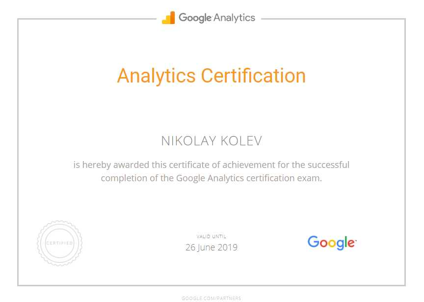 Николай kolev — Google Analytics
