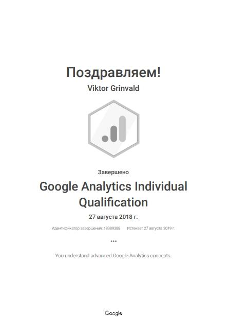 Виктор Levin — Google Analytics