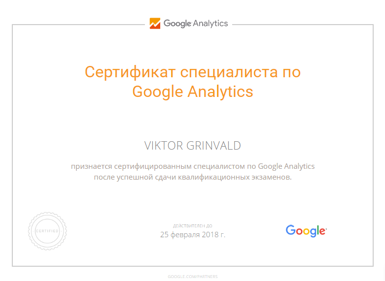 Виктор Levin — Google Analytics
