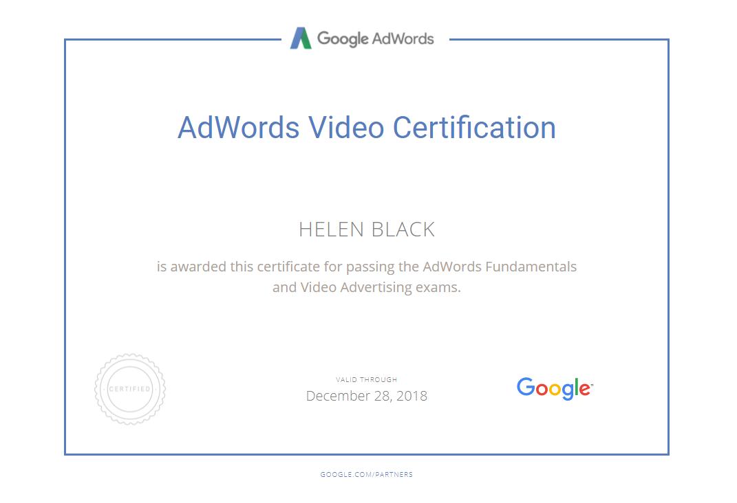 Helen matilda – Google AdWords