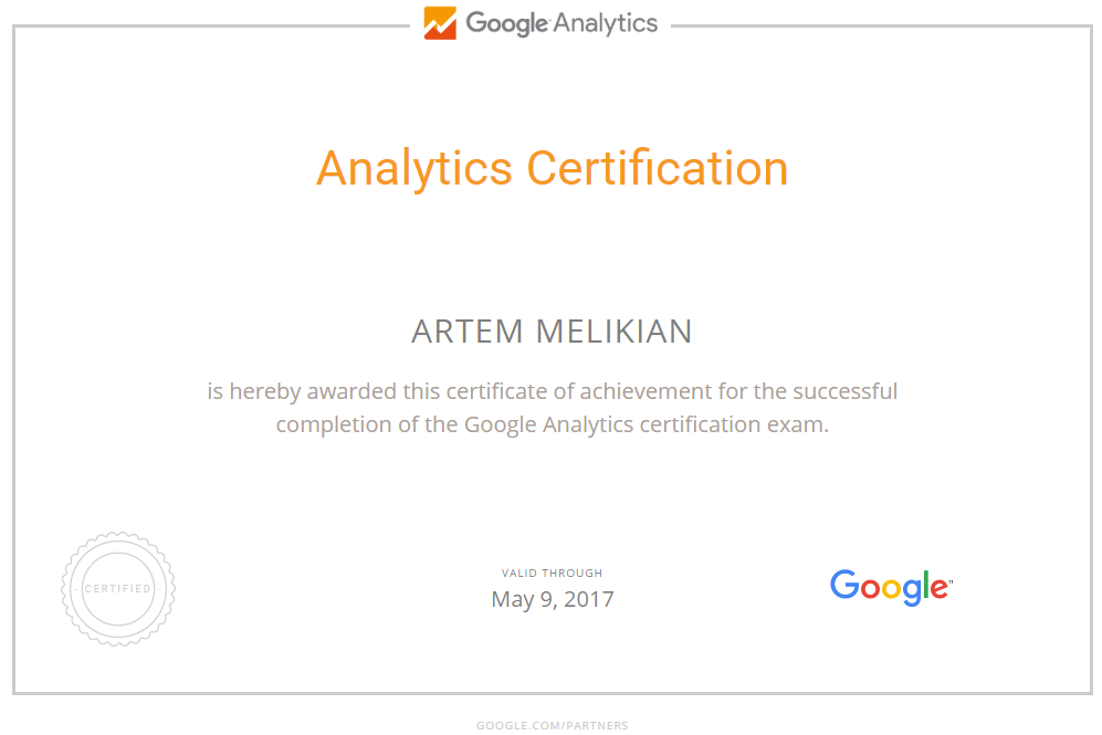 Артём melik — Google Analytics