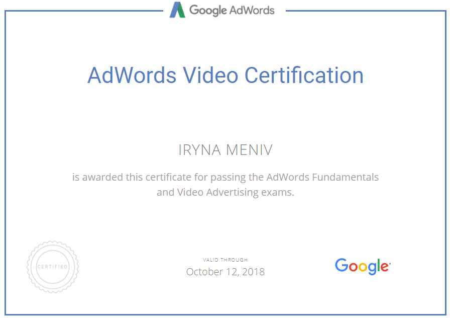 Ирина Mint — Google AdWords