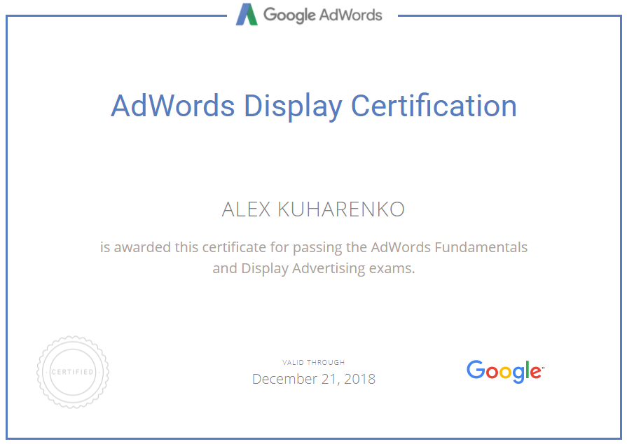 Александр mraleks — Google AdWords