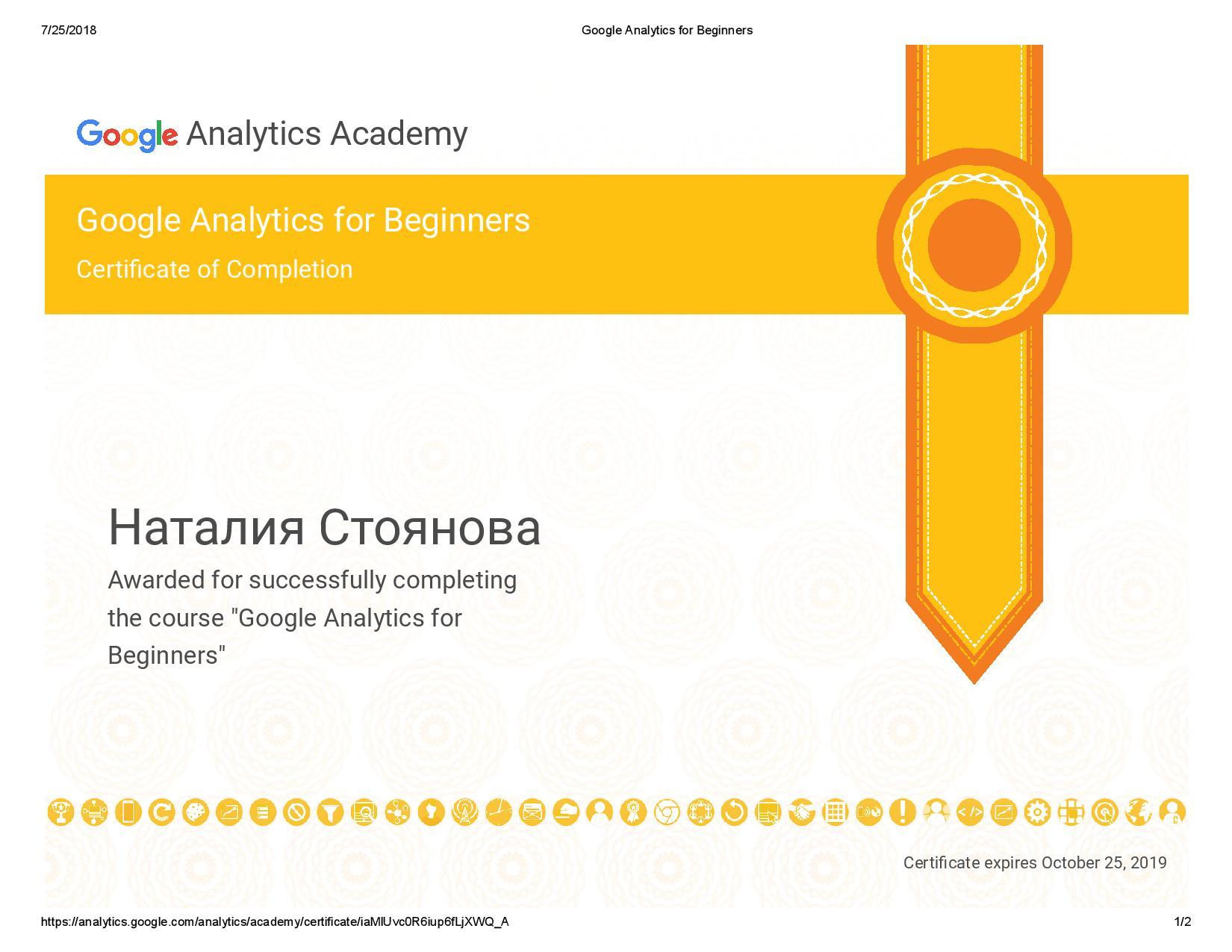 Natalia niya – Google Analytics