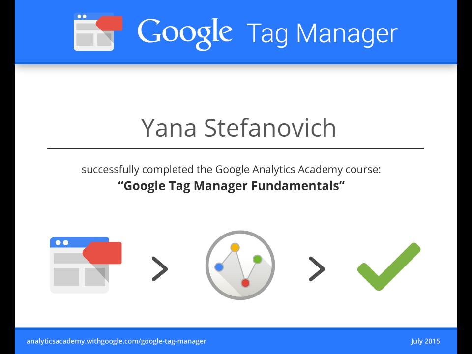 Яна nyan — Google Tag Manager