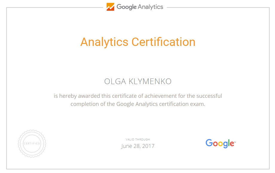Ольга ololo — Google Analytics