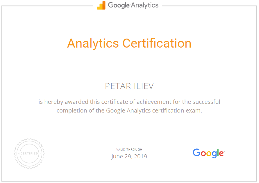 Petar Pec – Google Analytics