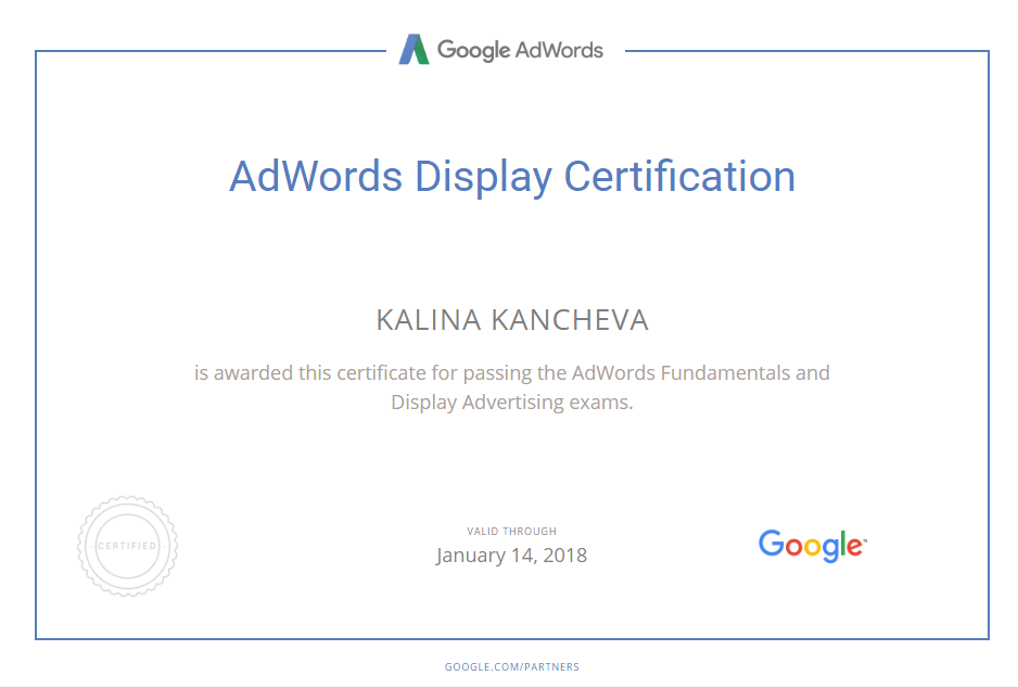 Калина pixie — Google AdWords