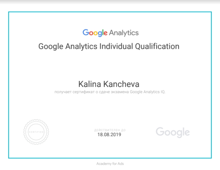 Kalina pixie – Google Analytics
