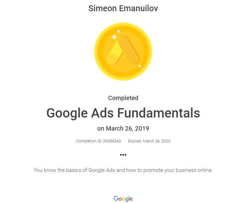 sim — Google Ads | Fundamentals