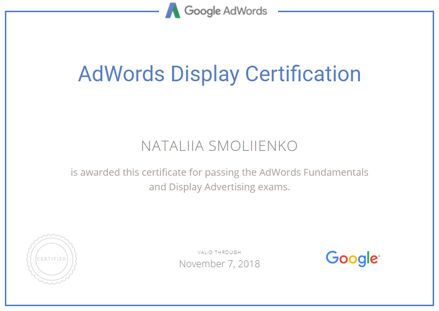 Smolka — Google AdWords