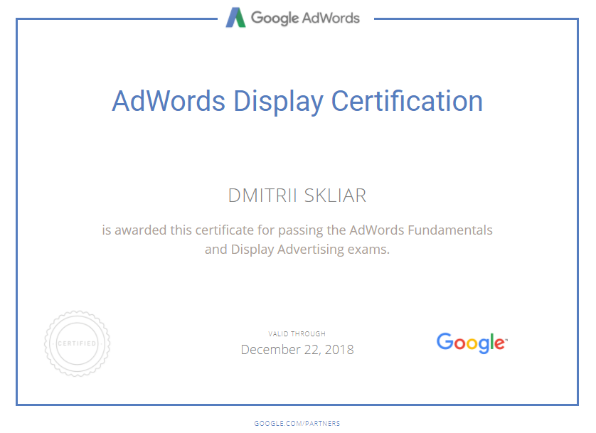 Stefan — Google AdWords