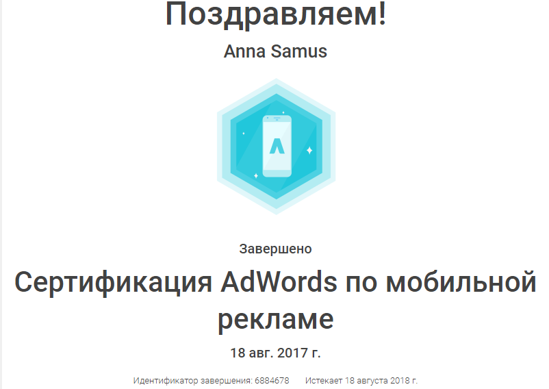 Анна Stereomind — Google AdWords