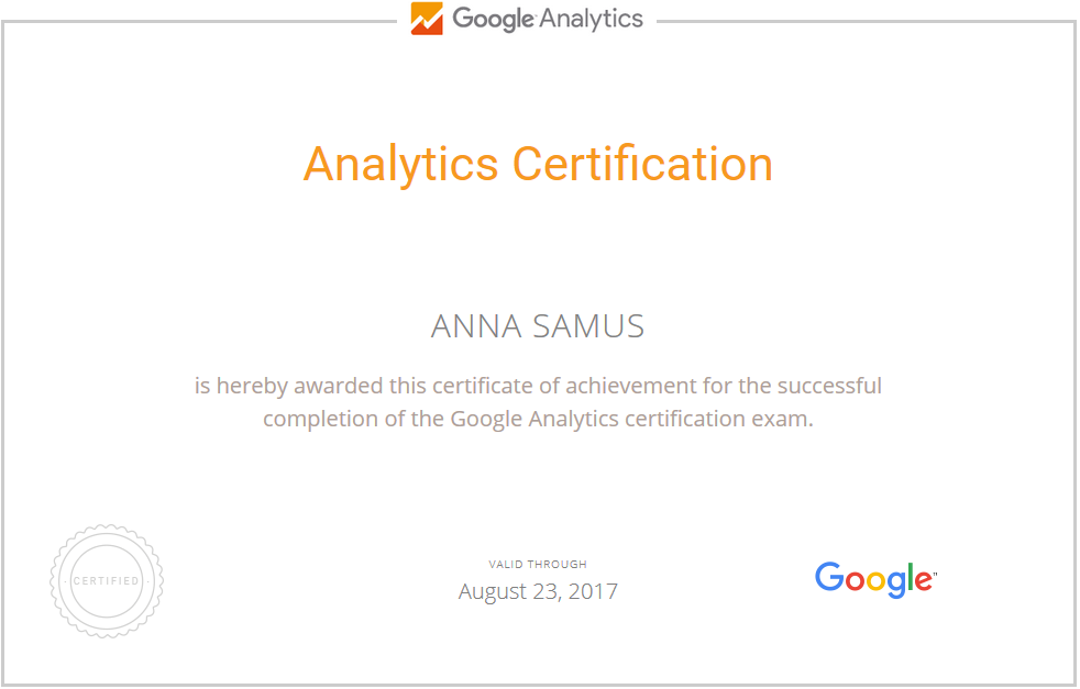 Анна Stereomind — Google Analytics