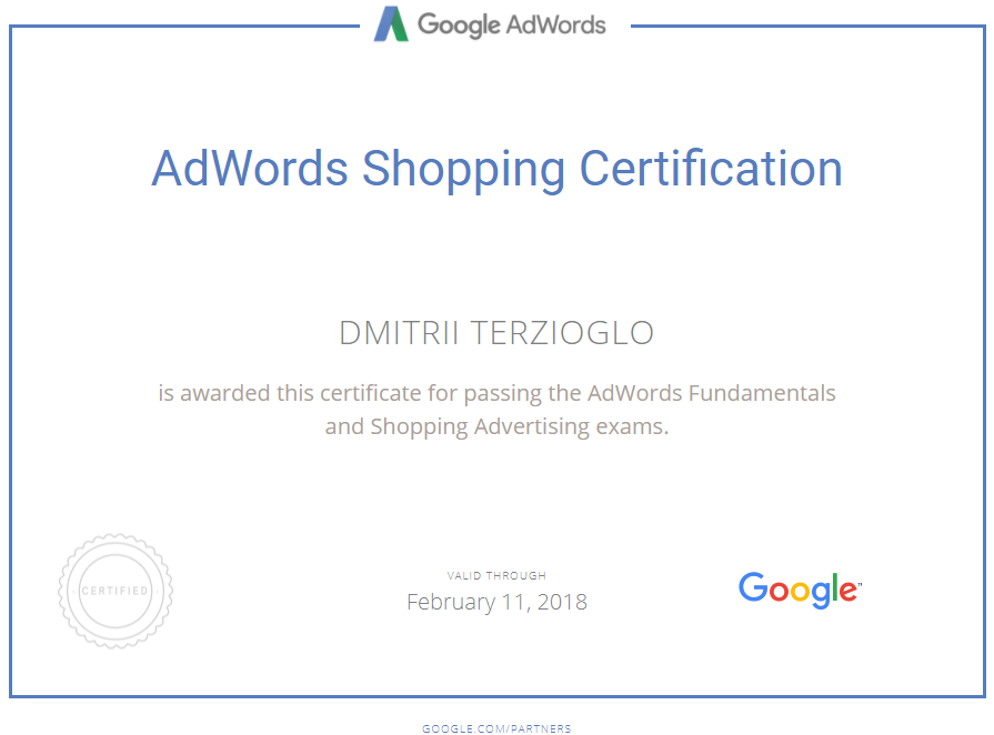 Дмитрий terzik — Google AdWords
