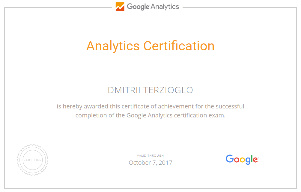 Дмитрий terzik — Google Analytics