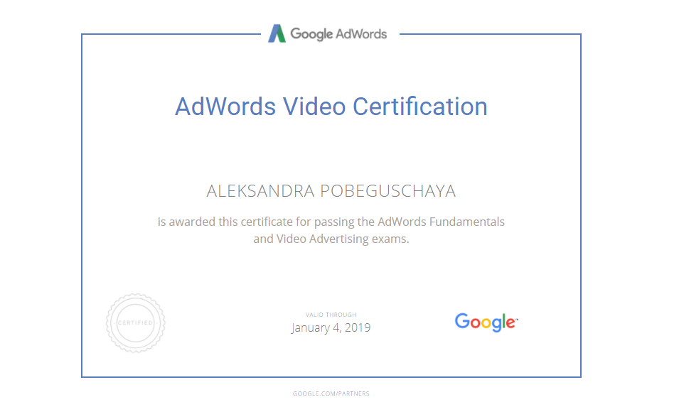 Trisha — Google AdWords