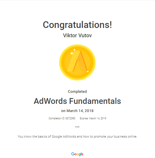 Vic — Google AdWords