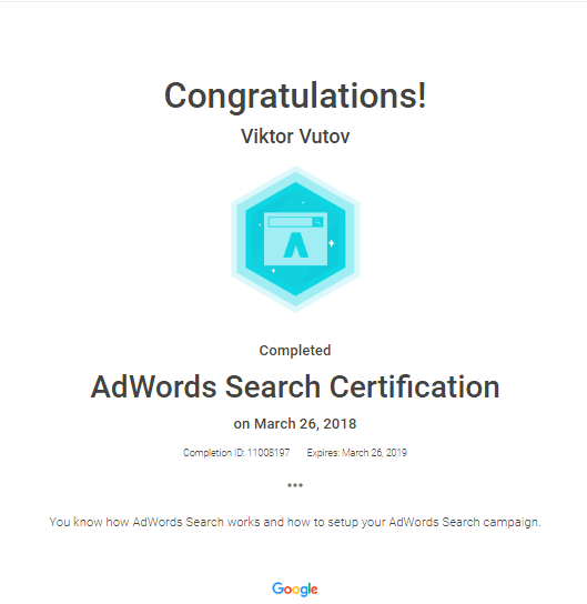 Victor Vic – Google AdWords