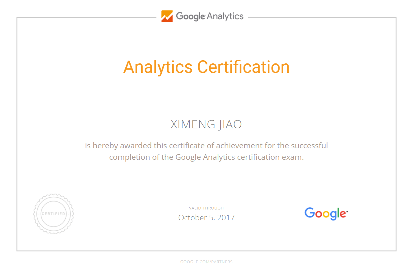 Шимон Ximeng — Google Analytics
